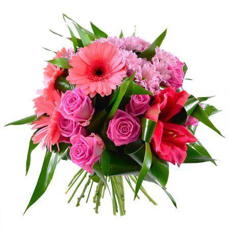 Букет ярко нежно розовых гербер розница