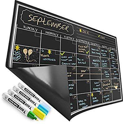 Amazon Com Magnetic Calendar For Refrigerator Dry Erase Black Board For Kitchen Fridge B Magnetic Dry Erase Calendar Dry Erase Calendar Magnetic Calendar