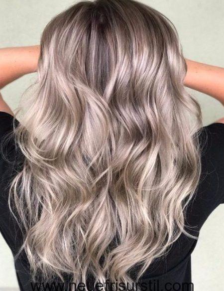 Grau Und Beige Balayage Balayage Frisuren Und Haarfarben