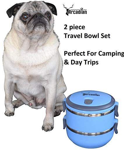 Kompaktes Hundefutter Und Wasser Schussel Reise Set Von