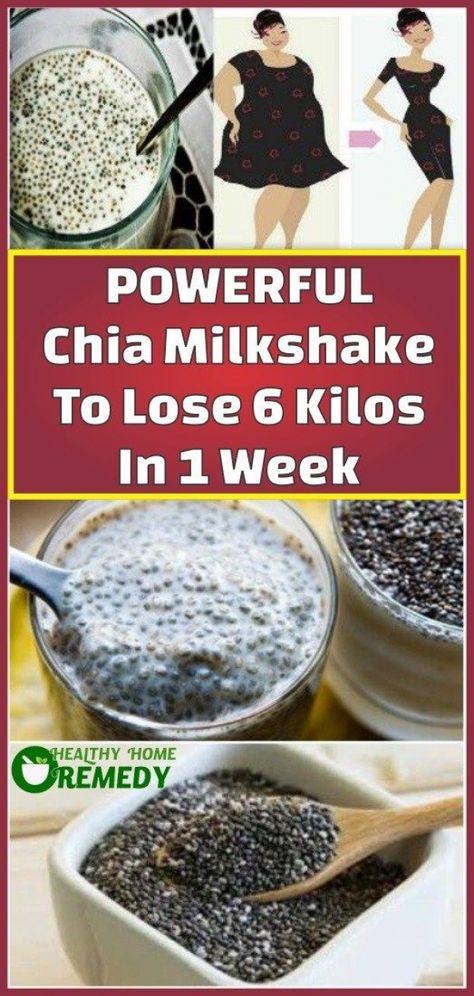 Powerful Chia Milkshake To Lose 6 Kilos In 1 Week #FatLossGuide