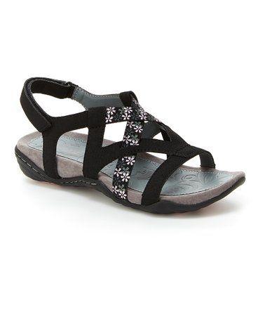 Black Woodland Sandal - Women #zulily