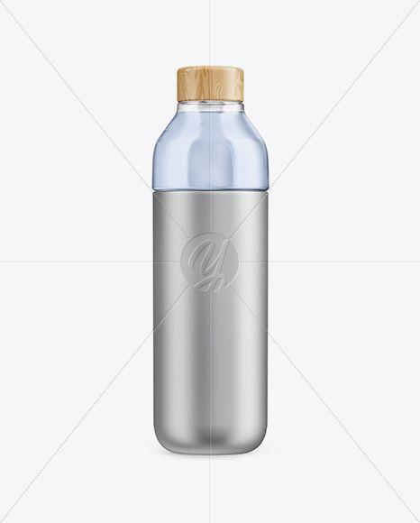 Download Metallic Bottle With Liquid Mockup In Bottle Mockups On Yellow Images Object Mockups Bottle Mockup Bottle Mockup Free Download