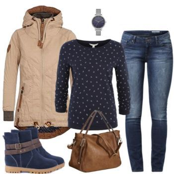 Naketano pullover Damen Outfit Komplettes Herbst Outfit