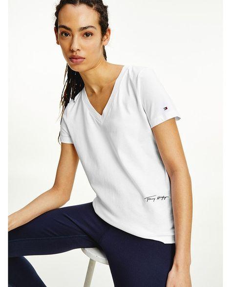 T-shirt de algodão orgânico com manga curta