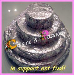 gâteau bonbons étapes