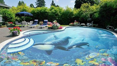 3d Pool Design Free Form With Outdoor Kitchen Fire Pit Pool