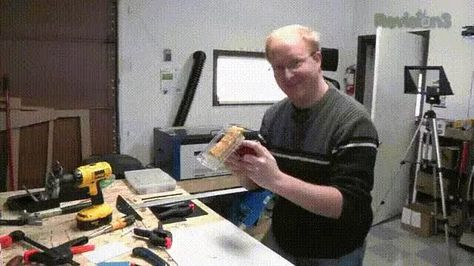 Eating A Hot Pocket Out Of A Hot Pocket Holster Mounted To Your