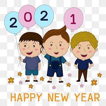 สว สด ป ใหม 2021 เด ก ๆ สว สด ป ใหม งานเฉล มฉลองภาพ Png และ เวกเตอร สำหร บการดาวน โหลดฟร Happy New Year Banner Cartoon Icons Happy New