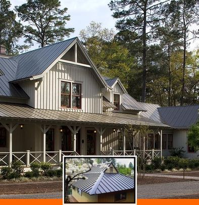 Colors Of Metal Roofing And Siding And Best Metal Roof Color For Tan House In 2020 Metal Roof Roof Colors Tan House