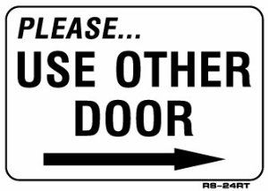 photograph regarding Please Use Other Door Signs Printable known as Make sure you+Employ+Other+Doorway+Signal+Arrow+Printable kesha Doorway
