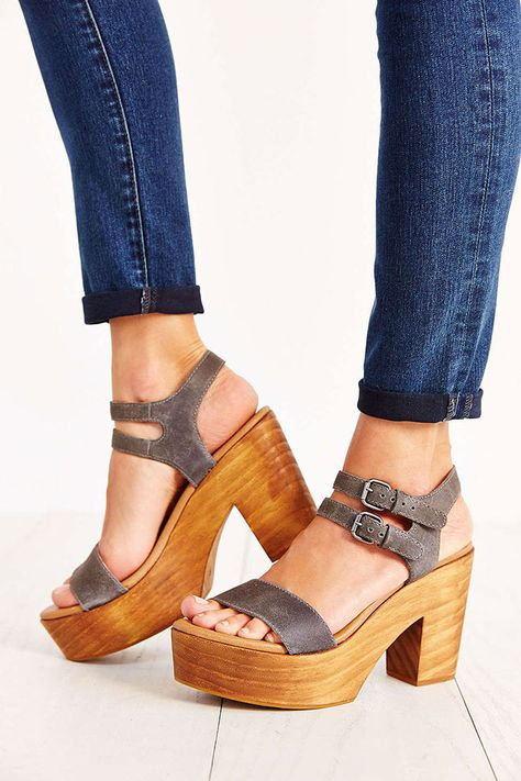 8f68c16b9bb Cooperative Piper Wood-Bottom Platform Sandal - Urban Outfitters ...