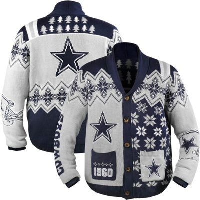 NFL Busy Block Ugly Sweater – Dallas Cowboys | NFL-NFC East Ugly ...