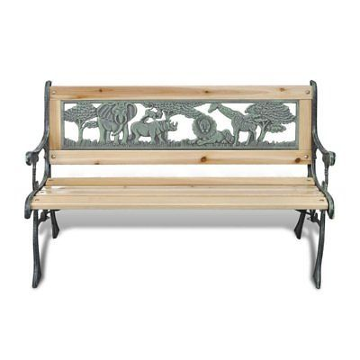 Remarkable Children Spring Bench Iron Frame Home Garden Kids Bench Short Links Chair Design For Home Short Linksinfo