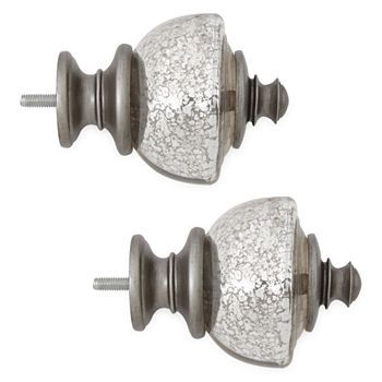 Curtain Rod Finials Curtain Rods Hardware For Window Jcpenney