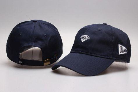 Men s   Women s Unisex Diamond Supply Co Brilliant Patch Embroidered Logo  Sport Baseball Adjustable Hat - Navy 4e4956c87413