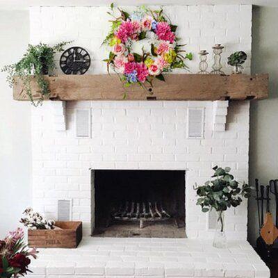 Ebern Designs Dahlia Rose Hydrangea 24 Silk Wreath Home