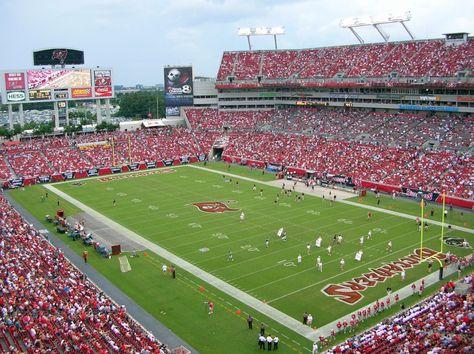 Raymond James Stadium Home Of The Tampa Bay Buccaneers Raymond James Stadium Stadium Raymond James