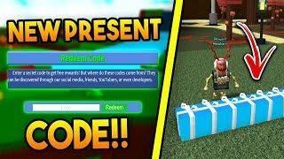 NEW* PRESENT CODE in Build a boat For Treasure ROBLOX   Roblox Games