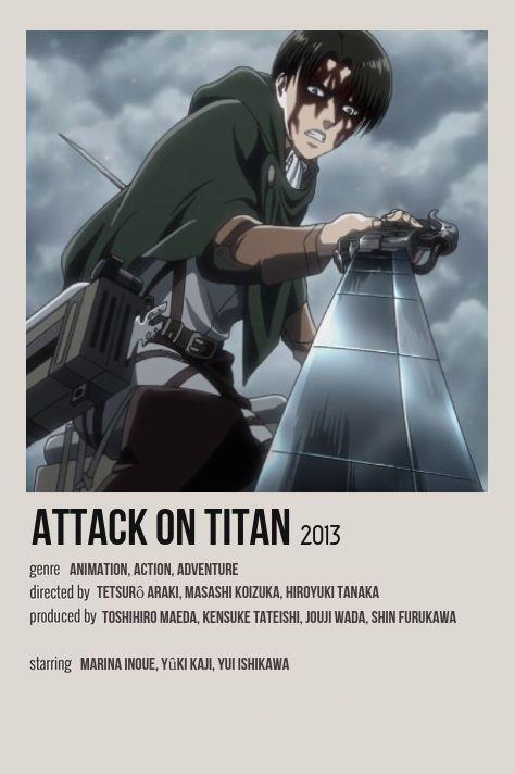 attack on titan minimalist anime poster