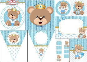 Prince Bear Free Printable Party Kit Baby Shower Balloons