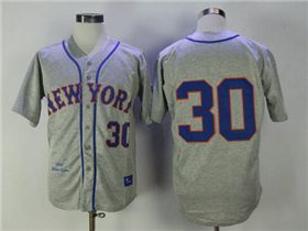 official photos 862f5 dd3dc New York Mets #30 Nolan Ryan 1969 Throwback Gray Jersey ...