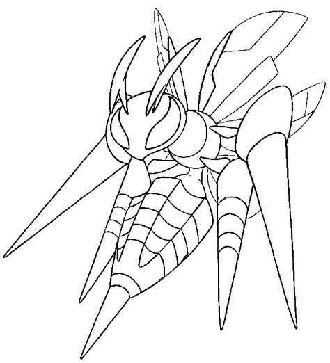 Mega Beedrill 15 Pokemon Coloring Pages Coloring Pages Pokemon Drawings