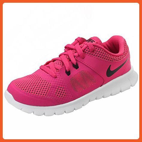 Nike Girls Flex 2014 Run Running Shoe PinkWhiteBlack 2.5