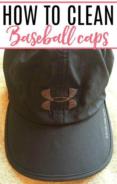 How To Clean Baseball Caps Baseball Baseball Cap Cleaning Hacks