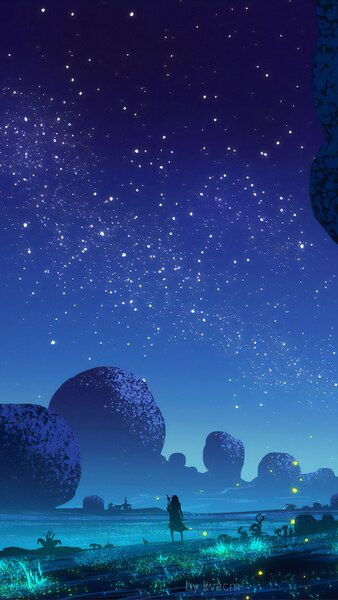 Fantasy Night Scenery Stars 4k Hd Mobile Smartphone And Pc Desktop Laptop Wallpaper 3840x2160 1920x1080 2 Night Skies Night Scenery Beautiful Fantasy Art