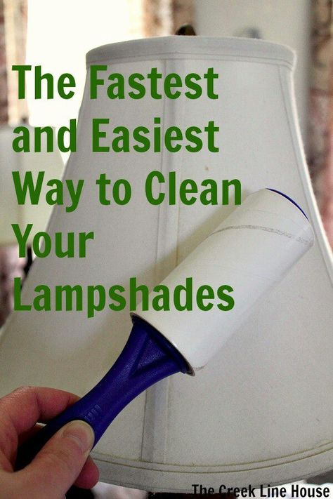 Dust accumulates on lamp shades quite easily -- here's a way to ...