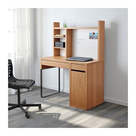 timeless design b2208 6f2bd MICKE Workstation - oak effect | Workspaces | Ikea desk ...
