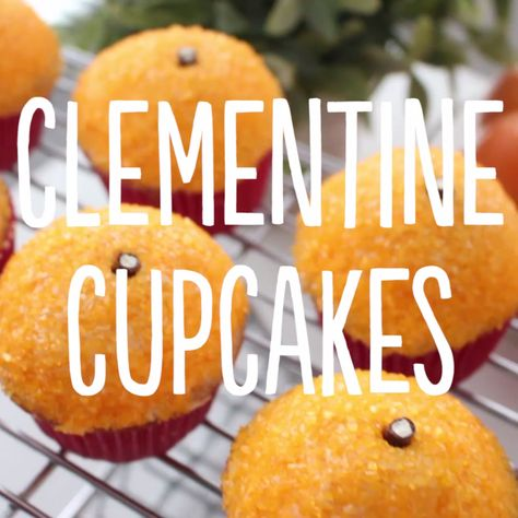 These cupcakes both look and taste exactly like fresh clementines!