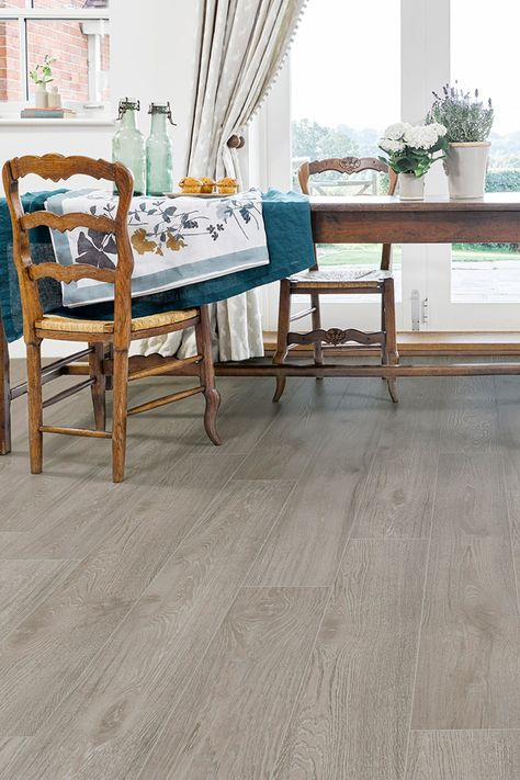 Series Woods Professional 12mm Laminate Flooring Sand Oak Has An Ac5 Commercial Rating Our Hi Luxury Vinyl Tile Flooring Dining Room Floor Flooring
