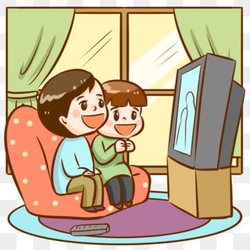 Couple Watching Tv Video Watching Tv Color Decoration Png Transparent Clipart Image And Psd File For Free Download Boy Cartoon Drawing Poster Decorations Valentines Illustration