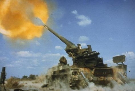 Vietnam War: A US Army M107 175mm Self Propelled Gun in action. Such heavy artillery was of little effect against guerrillas, yet the US Army rule book continued to insist on its deployment. One of the keen criticisms of the conduct of US operations in SE Asia was exactly this adherence to WW2 tactics in an