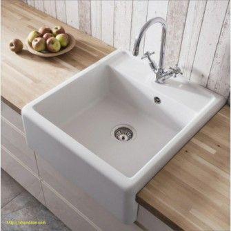 Evier Ceramique Timbre D Office 1 Bac Campagne Blanc Sarreguemines Kitchen Sink Sink Luxury Kitchen Design