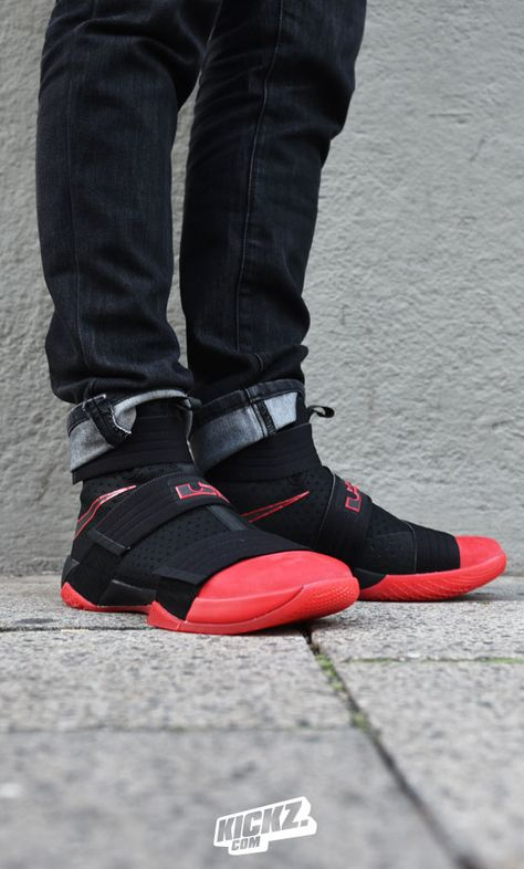 The Nike LeBron Soldier 11 'Bred' is available now.