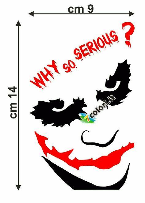 WALL STICKERS ADESIVI MURALI Why So Serious Batman JOCKER DESIGN GOTHAM CITY