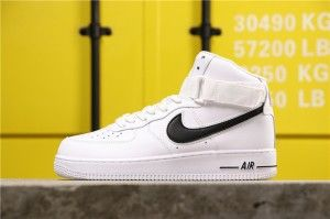 Wmns Nike Air Force 1 High 07 White Black At4141 108 Classic