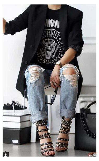 chic outfits edgy