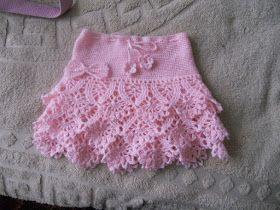 Crochet golden skirt.