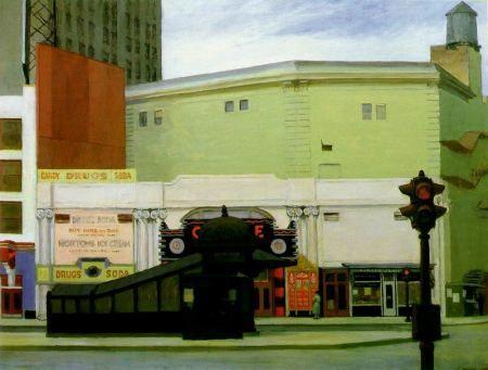"""#EdwardHopper (1882-1967) """"Drug Store, 1927 (#MFABoston"""