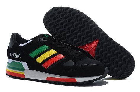 ca0879d76 Mens New Adidas Originals ZX750 G20866 Black Yellow Red Green ...