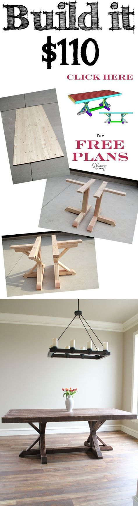 Build this Restoration Hardware Inspired Dining Table for only $110!