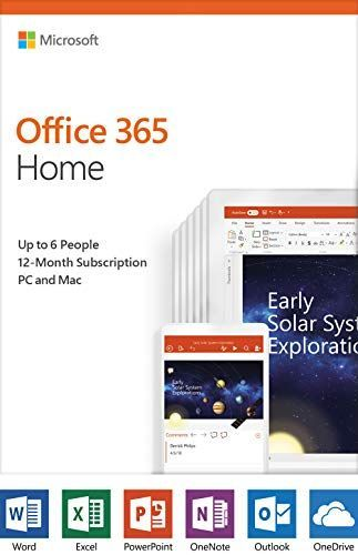 Microsoft Office 365 Home 12 Month Subscription Up To 6 People Pc Mac Activation Card By Mail Excelwordaccessetc 12 Monthآ Subscription For U 2020 Lavanta Bursa