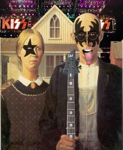 American Gothic Kiss By Anthony Bowtie8990 American Gothic
