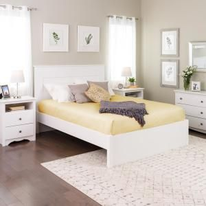 Prepac Select White Queen 4 Post Platform Bed In 2020 Bed