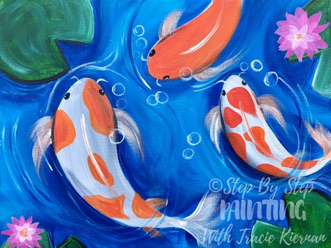 Koi Fish Painting - Step By Step Tutorial - With Pictures