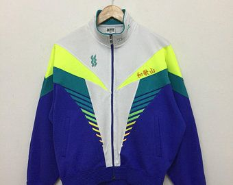 1a7f77b83d59d Vintage Superstar Mizuno Jacket/Superstar by Mizuno Multicolor Neon ...